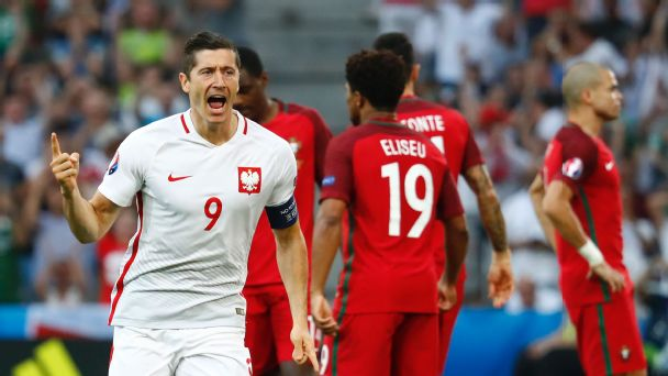 Watch live: Poland-Portugal quarterfinal goes into extra time