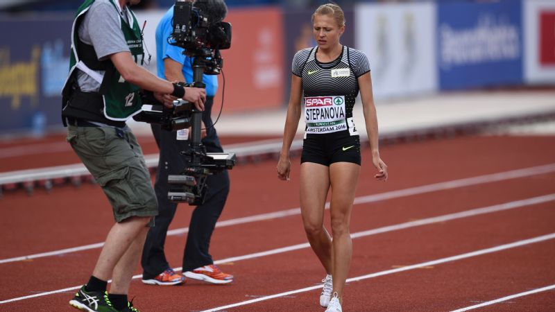Yulia Stepanova, above, helped reveal a Russian doping scandal and was later banned by the International Olympic Committee. She is now appealing the decision.