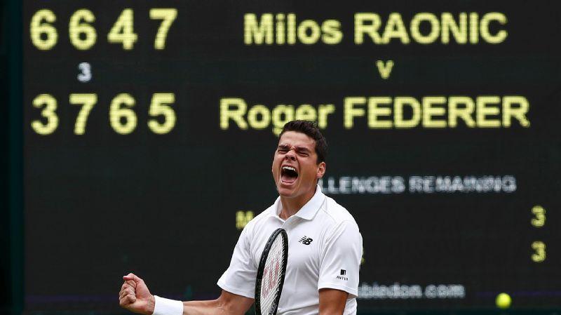 Milos Raonic has now beaten Roger Federer three times in 12 meetings.
