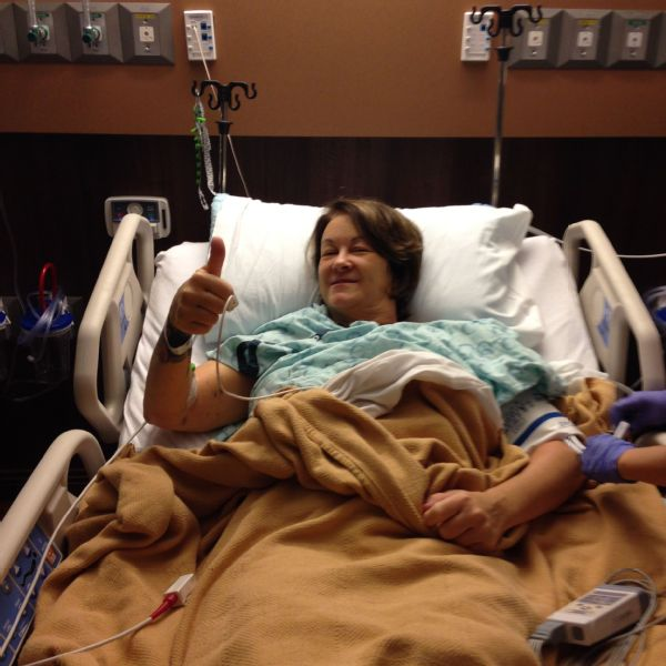 The group gave me the confidence I needed to go forward with my surgery, Deb Schelebo says, pictured here before surgery.