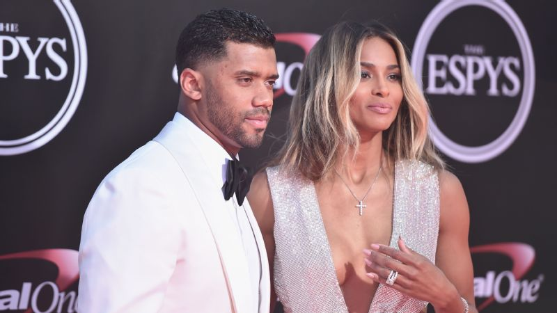 Seahawks quarterback Russell Wilson and singer Ciara announced her pregnancy.