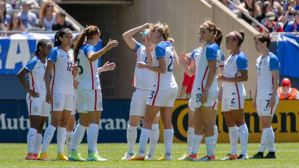 Watch live: USWNT nets three in opening half