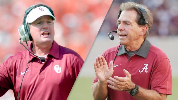 Bob Stoops and Nick Saban