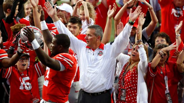 Urban Meyer celebrates