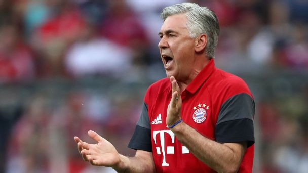 A five-point plan for Carlo Ancelotti at Bayern Munich in 2016-17
