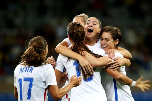 The U.S. women's soccer team dominated from the start to earn the convincing 2-0 victory over New Zealand and remain unbeaten in 2016.