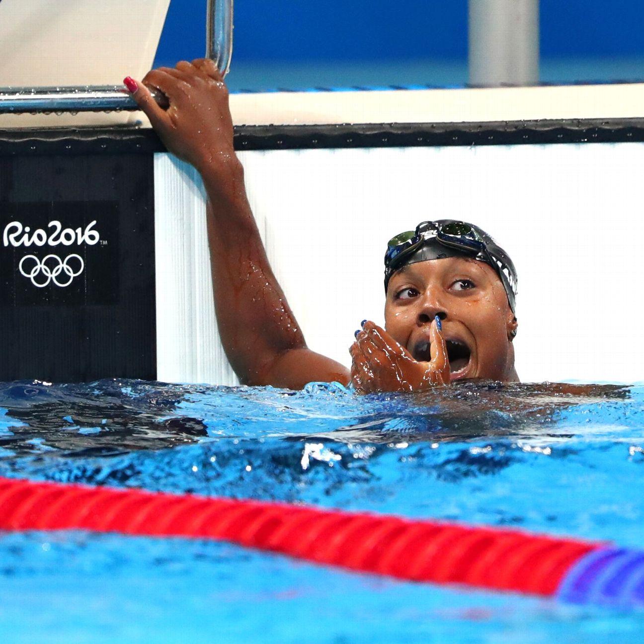 Simone Manuel of United States wins women's 100-meter ...