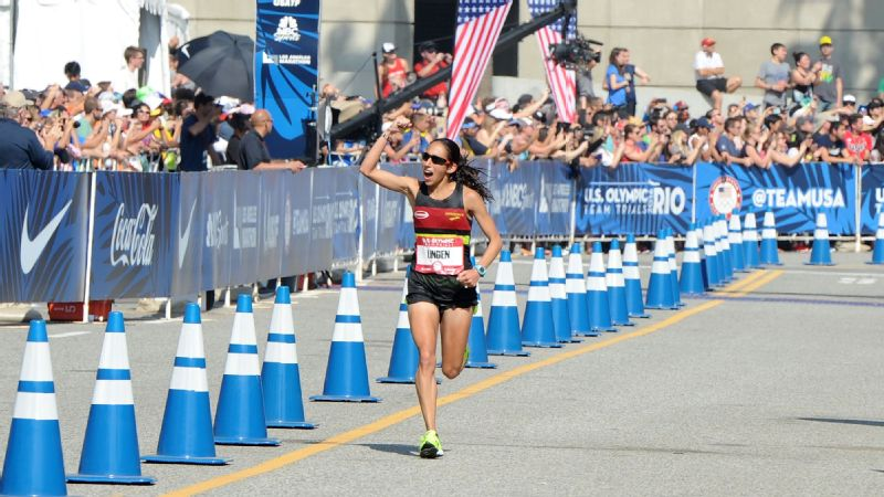 Desiree Linden is one of three American women who will compete in the Olympic marathon on Sunday.