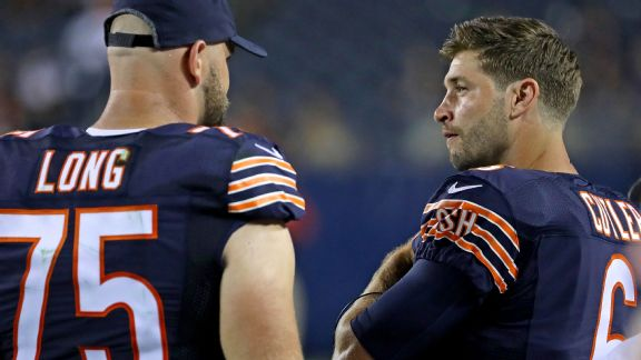 Chicago's Kyle Long and Jay Cutler