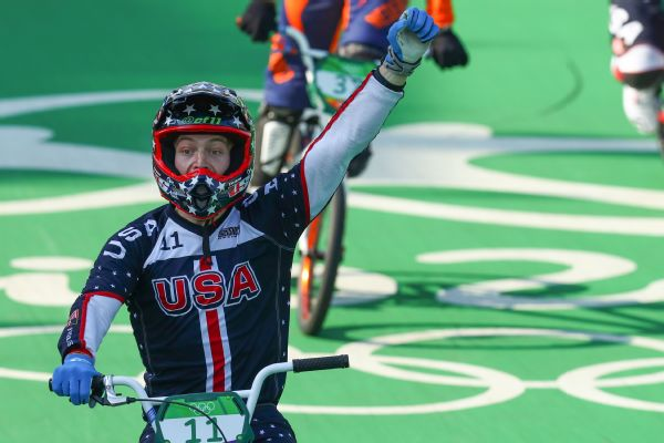 Connor Fields won the BMX gold while competing with a broken wrist.