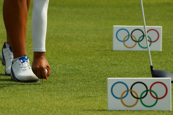 Olympic golf tee markers