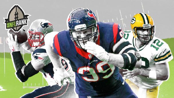 #NFLrank 25-1: J.J. Watt tops list of NFL's best players -- again