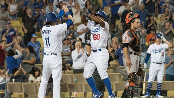 Watch live: Dodgers trying to hold off Giants late