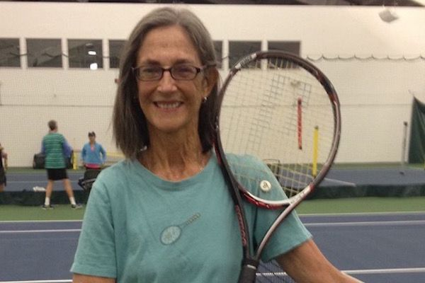 Ronni Gordon at her tennis club in Enfield, Connecticut.