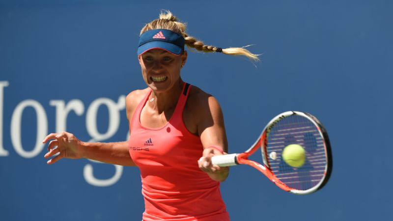 Angelique Kerber lost only nine points in seven games before her opponent --  Polona Hercog -- retired because of cramping and dizziness.
