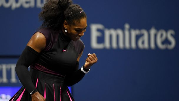 Serena Williams aces first-round test at US Open