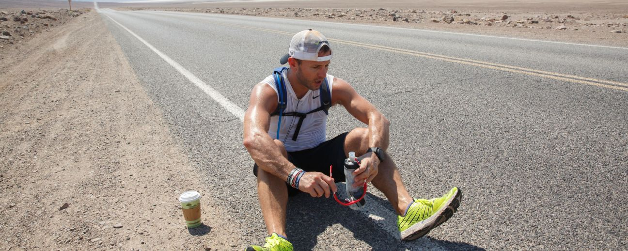 George Chmiel has trained in Death Valley to prepare himself for a run from San Diego to New York. He wants to complete the 3,031-mile trek in two months.
