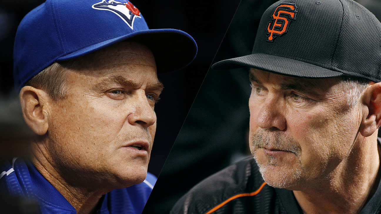 John Gibbons and Bruce Bochy
