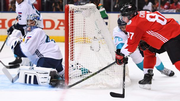Watch live: Marchand, Stamkos have Canada in lead