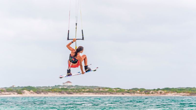 Kiteboarding tricks are judged on a variety of factors, including speed going into and out of the trick, height and risk involved.