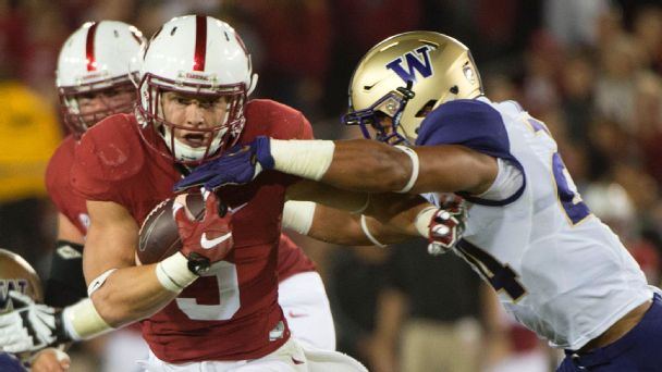 Washington shuts down McCaffrey in rout of Stanford