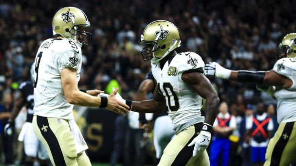 Follow live: Brees, Ryan trading TD passes