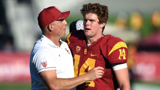 Clay Helton and Sam Darnold