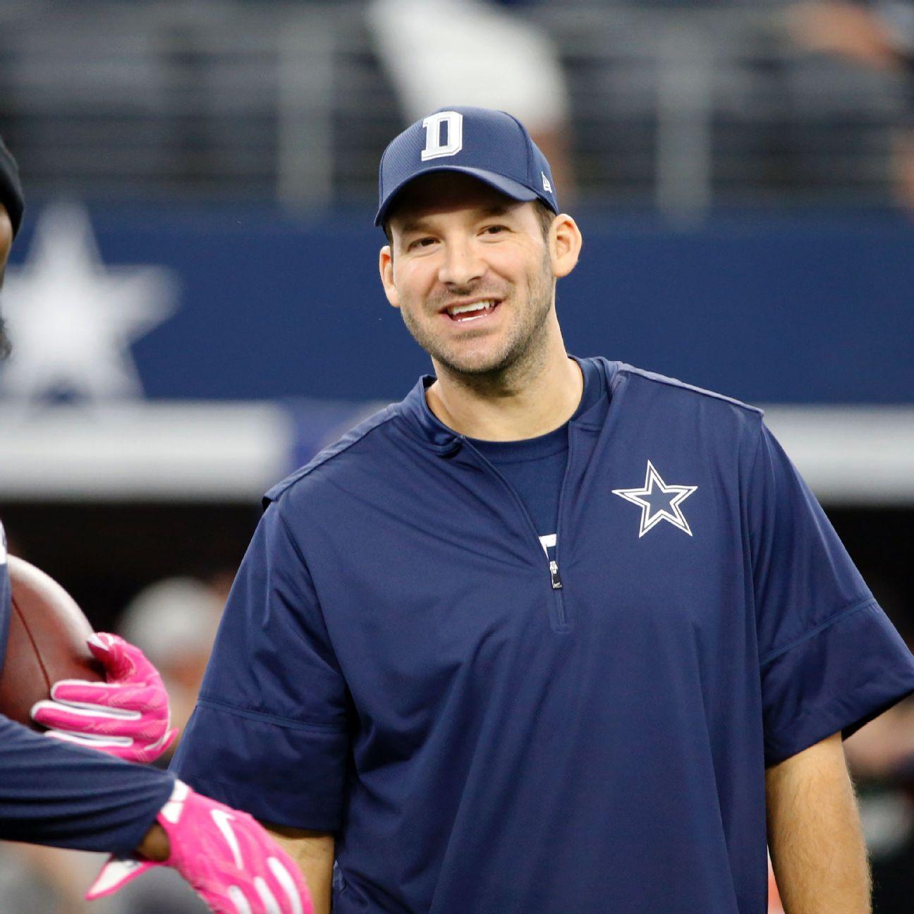 Tony Romo adds practice jersey, helmet to workout mix - ESPN  Tony Romo adds ...