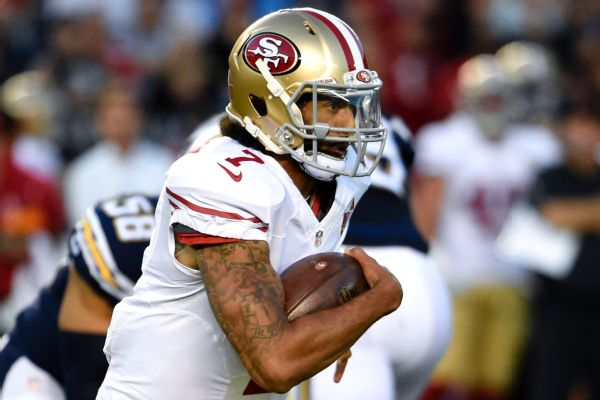 49ers hope change to Kaepernick helps them go deep