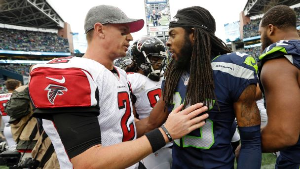 Atlanta Falcons Matt Ryan Seattle Seahawks Richard Sherman