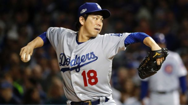 Maeda, Dodgers face Cubs in Game 5 of tied NLCS