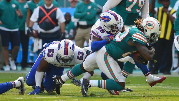 Miami Dolphins running back Jay Ajayi