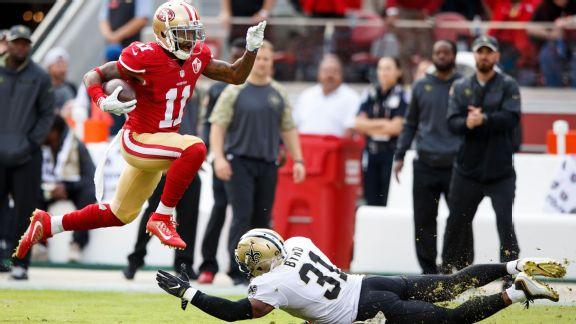 San Francisco 49ers wide receiver Quinton Patton