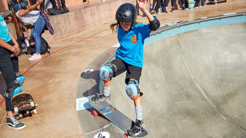 Exposure Skate 2016 is the largest female skateboarding event in the world -- and this year, featured competitors age 4 to 40. Minna Stess, 10, won her age group in bowl, took third in vert and placed fourth in street.