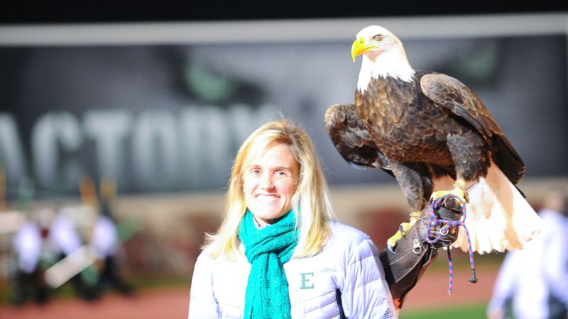Eastern Michigan University athletic director Heather Lyke is trying to change the school's culture around football. One step was to make sure the live eagle mascot played a bigger role at games.