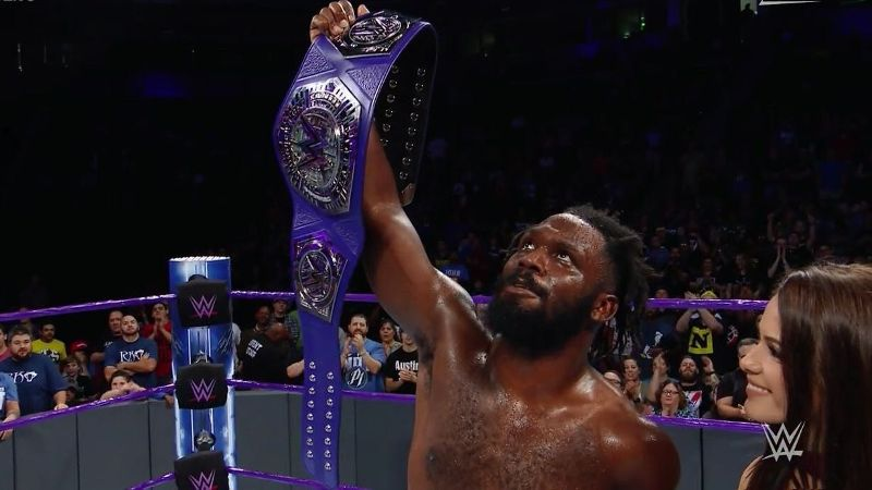 Rich Swann dedicated his WWE cruiserweight championship win Tuesday night to his late mother.