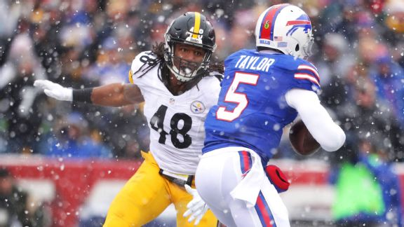 Bud Dupree, Tyrod Taylor, Steelers vs. Bills