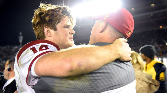 Sam Darnold and Clay Helton
