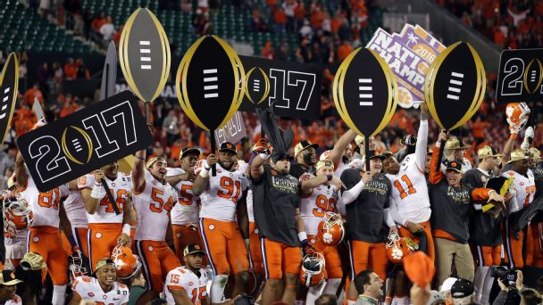 Clemson celebrates after CFP title game