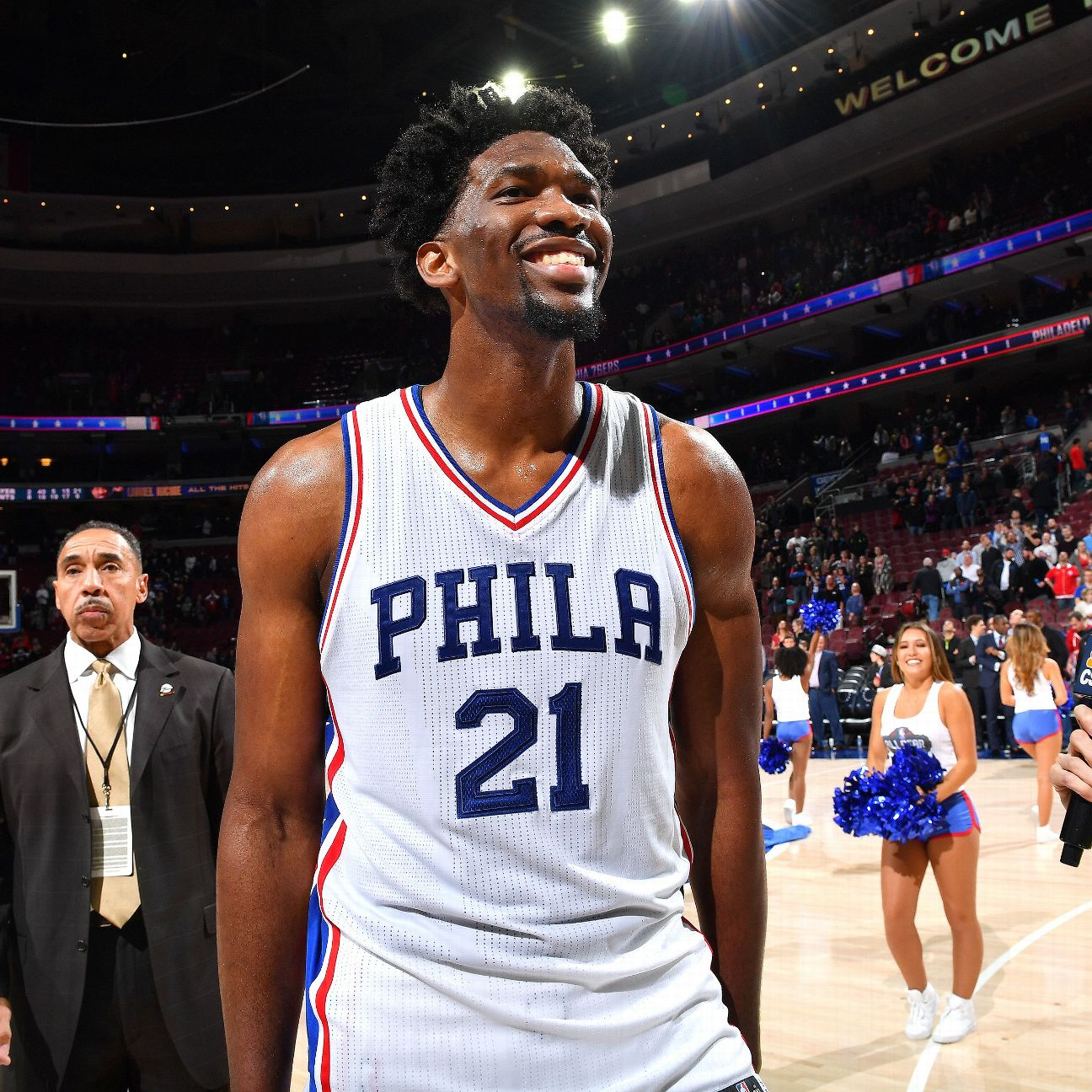 Joel Embiid Of Philadelphia 76ers Talks Rookie Of Year
