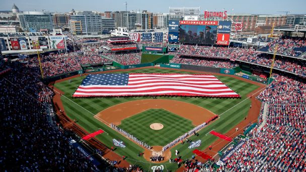American flag at Nationals Park