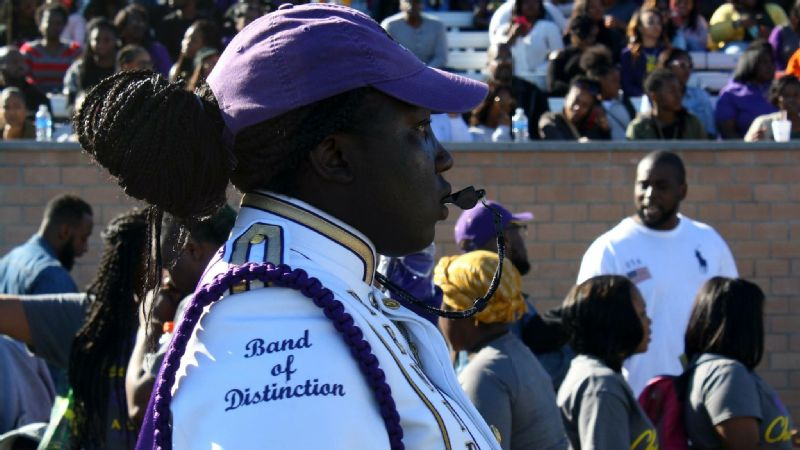 NaKia Bryant is one of only four female drum majors in Benedict College's history.