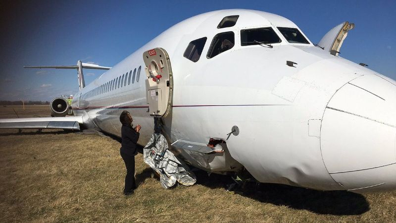 The plane carrying the Michigan basketball team skidded off the runway on March 8.