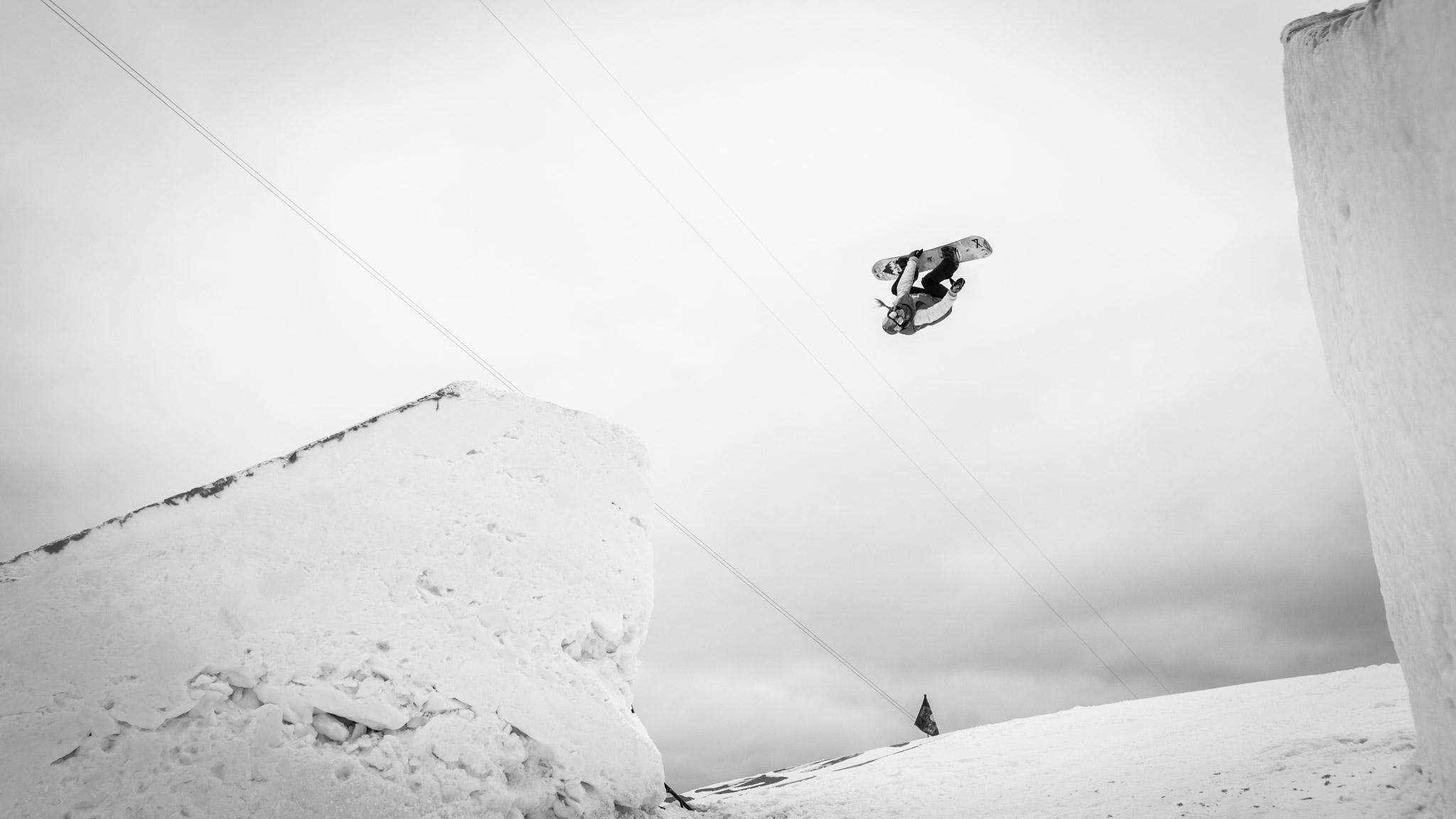 Anna Gasser, Women's Snowboard Slopestyle practice