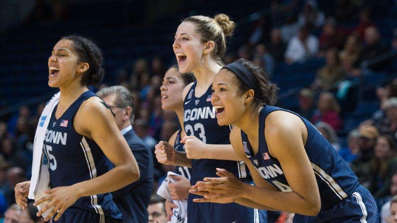 UConn's Napheesa Collier, Katie Lou Samuelson, Gabby Williams