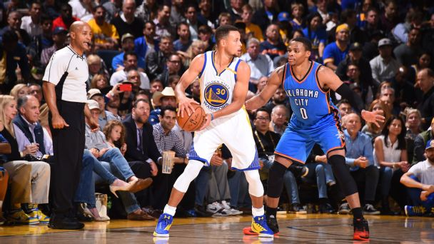 Russell Westbrook and Stephen Curry