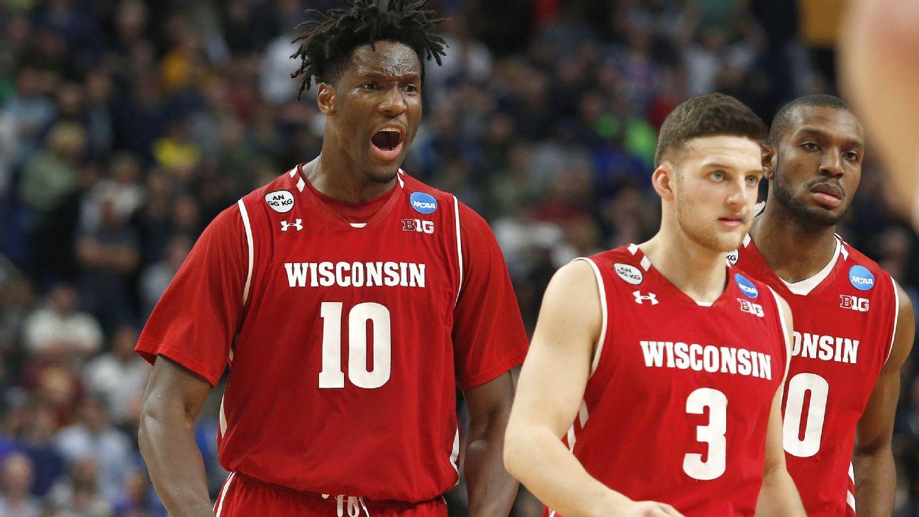 Wisconsin Basketball Locker Room Celebration