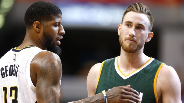 Paul George and Gordon Hayward