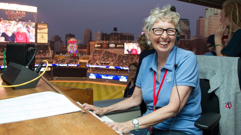 Sue Nelson has been the Minnesota Twins' organist since the franchise's days in the Metrodome.