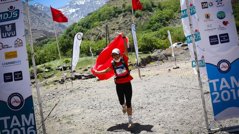 Aziza Raji won first female in the 2016 Trans Atlas Marathon -- a race that covers 170 miles, and climbs up and down nearly 45,000 feet in elevation.